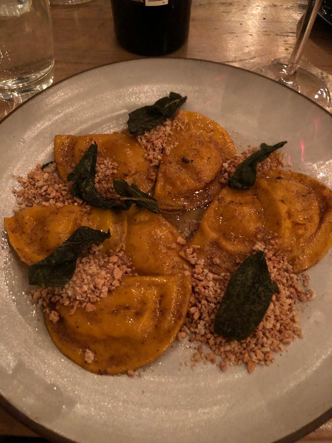 Viaggio's pumpkin ravioli