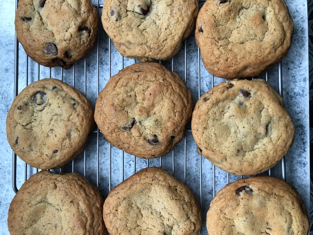 gym wine laundry chocolate chip cookies