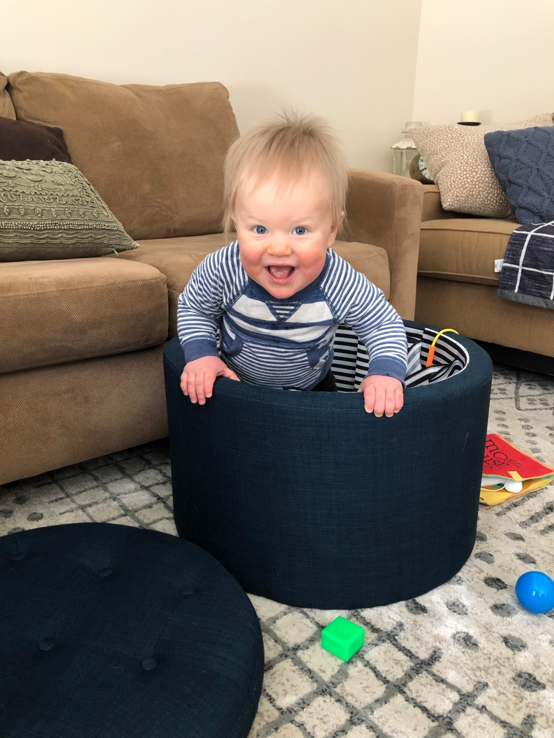 baby in ottoman
