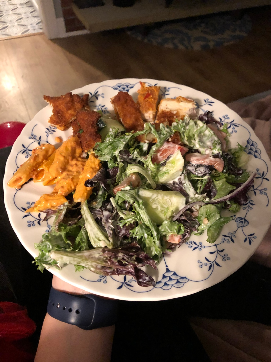 blog takeout Italian breaded chicken salad